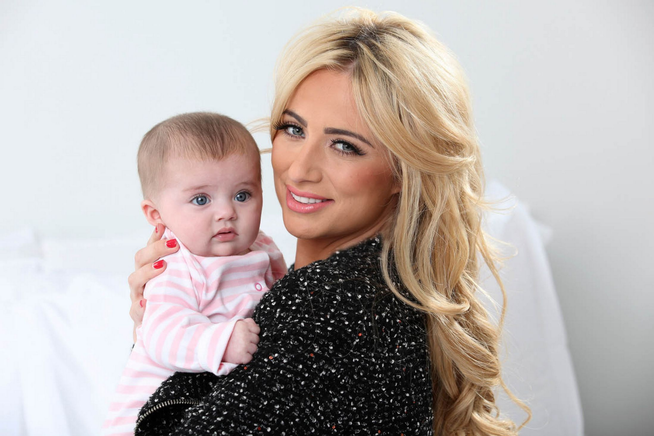 Chantelle Houghton with her baby daughter Dolly