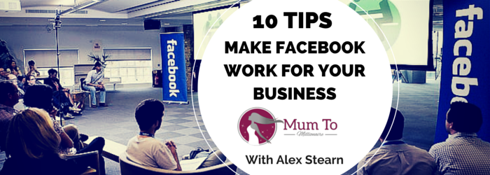 facebook business tips MUMPRENEUR